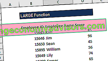 Was ist die Excel LARGE-Funktion?