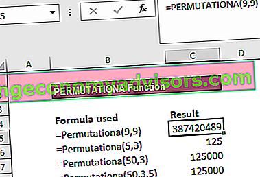 Was ist die PERMUTATIONA-Funktion?