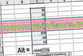 Cos'è la funzione Somma automatica Excel?