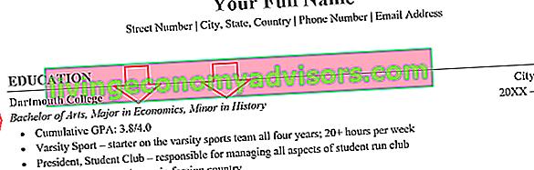 Comment lister un mineur sur un CV