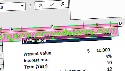 FV Function Excel - Contoh